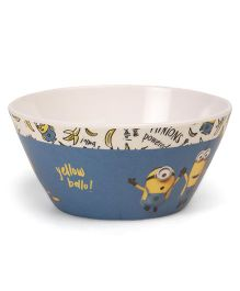 Minions Cone Bowl - White Blue