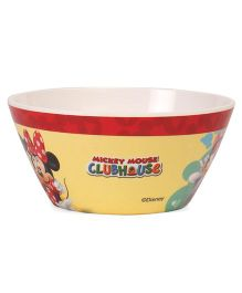Disney Cone Bowl Mickey & Friends Print - White Red