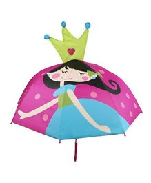 Superfie Girl Queen Printed Umbrella - Pink
