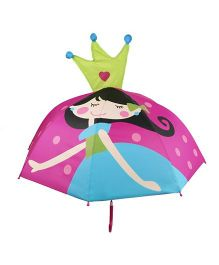 Pre Order - Superfie Girl Queen Printed Umbrella - Hot Pink