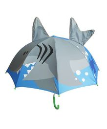 Pre Order - Superfie Shark Fish Printed Umbrella - Grey