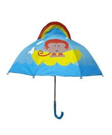 Pre Order - Superfie Monkey Printed Umbrella - Blue