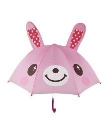 Pre Order - Superfie Rabbit Printed Umbrella - Pink