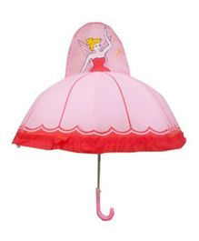 Pre Order - Superfie Fairy Printed Umbrella - Pink & Red