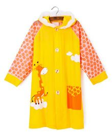 Pre Order - Superfie Giraffe Printed Rain Coat - Yellow