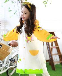 Pre Order - Superfie Birds Printed Rain Coat - Yellow