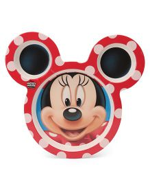 Disney Minnie Mouse Face Shape Plate - Red Black