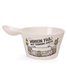 Minions Snack Bowl Off White - 590 ml