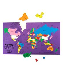Imagi Make World's Largest Countries Jigsaw Puzzle Multi Color - 68 pieces (Color May Vary)