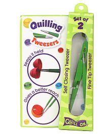 Quill On Quilling Tweezers Set of 2 - Green