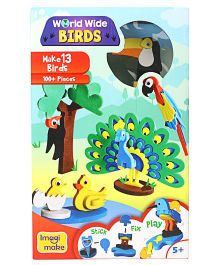 Imagi Make Worldwide Birds Puzzle Multicolour - 100 pieces