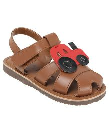 Aria Nica Tractor Sandals - Brown