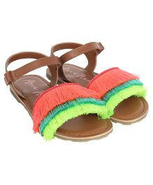 Aria Nica Coral Sandals - Brown