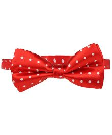 Baby Angel Polka Dot Print Bow Tie - Red