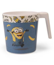 Disney Large Coffee Mug Minions Print Off White Blue - 320 ml