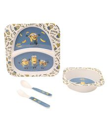 Minions Feeding Set Pack of 5 - Blue White