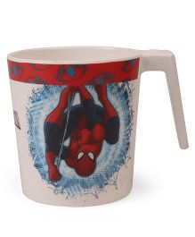 Marvel Coffee Mug Spider Man Print - Off White Red