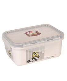 Minions Printed Lunch Box - White