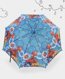 Marvel Spider Man Kids Umbrella - Red Navy Blue