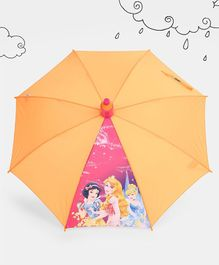 Disney Princess Printed Umbrella With Pipe Case - Orange