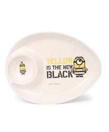 Minions Printed Plate - White