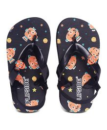 Flipside Nemo Flipflops - Black (3 to 3.5 Years)