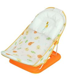Mastela Deluxe Baby Bather - Orange And White