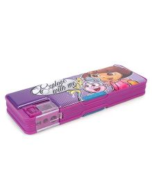 Dora Printed Pencil Box - Purple