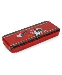 Disney Pencil Box Minnie Mouse Print - Red