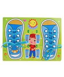 Home Union Learn To Tie Your Shoes Kids Puzzles Toy - Blue