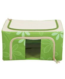 Home Union Floral Print Storage Box - Green