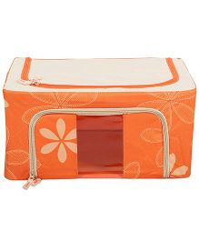 Home Union Floral Print Storage Box - Orange