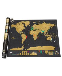 Home Union Travel Edition Scratch Off World Map Poster - Black