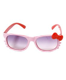 Miss Diva Stripes With Bow Sunglasses - Pink