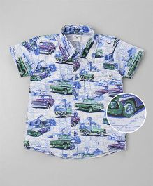 Wonderchild Cars Printed Shirt - White