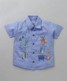 Wonderchild Tribal Print Shirt - Blue