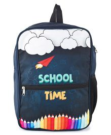 The Yellow Jersey Company School Time Bag Blue - Height 14 inches