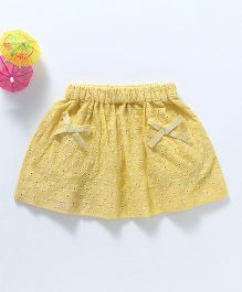 Spring Bunny Eyelet Skirt - Yellow