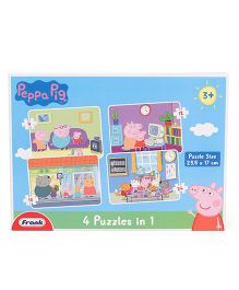 Frank 4 In 1 Peppa Pig Jigsaw Puzzle - 24 Pieces