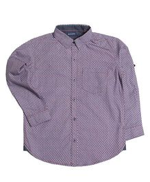 Mint & Cotton All Over Print Shirt - Purple