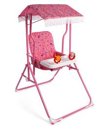 Mothertouch Garden Swing With Sun Shade - Pink