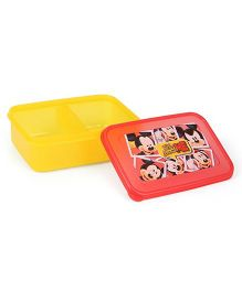 Disney Lunch Box Mickey Mouse Print Yellow & Red - 800 ml