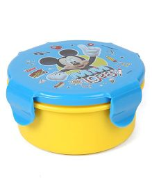 Disney Mickey Mouse And Friends Round Lunch Box - Blue Yellow