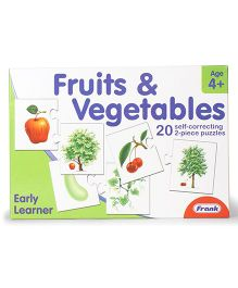 Frank Fruits & Vegetables Self Correcting Puzzles - 40 Pieces