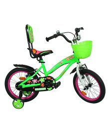Cosmic Vega Kids Bicycle Green Pink - 16 inch