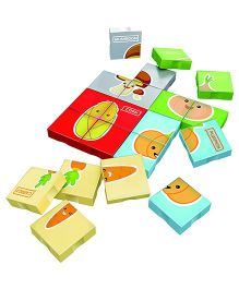 Flying Start Mega Bricks Vegetable Puzzle Blocks Multi Colours - 41 Pieces