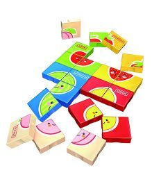 Flying Start Mega Bricks Fruits Puzzle Blocks Multi Colours - 41 Pieces