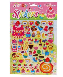 DIY Ice Cream & Cake Theme Stickers - Multicolour