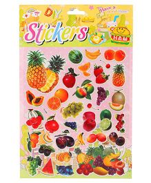 DIY Fruits Theme Wall Stickers - Multicolour