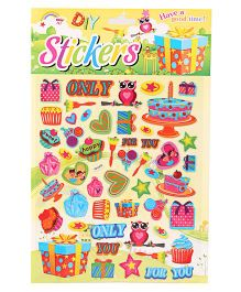 DIY Cake & Gift Box Stickers - Multicolour